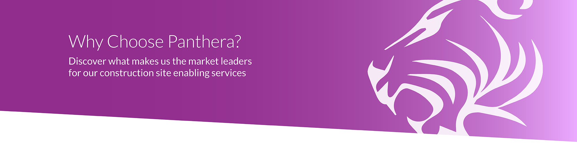Why Choose Panthera? Discover what makes us the market leaders for our construction site enabling services